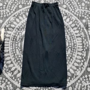 Vintage Missoni long black wool skirt